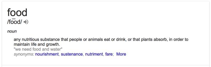 Food Definition